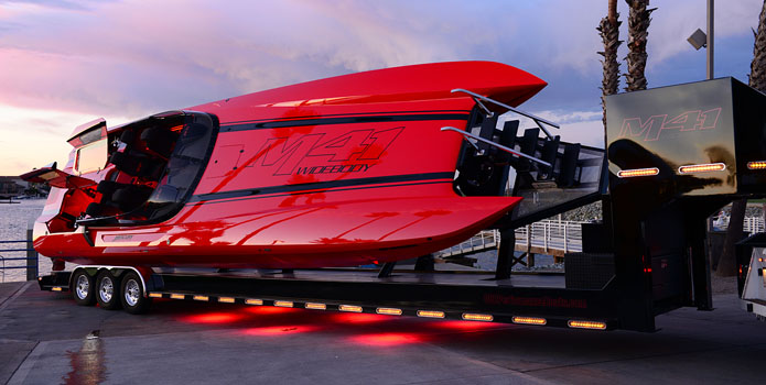 A highlight of 2013 for Dave Hemmingson, the founder of Dave's Custom Boats, was finishing the company's second M41 Widebody model and showcasing it at the Big Cat Poker Run in Northern California.