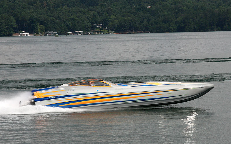 One of the Lanier Partners of North Georgia board members, Dan Jape and his wife, Kim, enjoyed the run in their Eliminator Boats 36 Speedster.