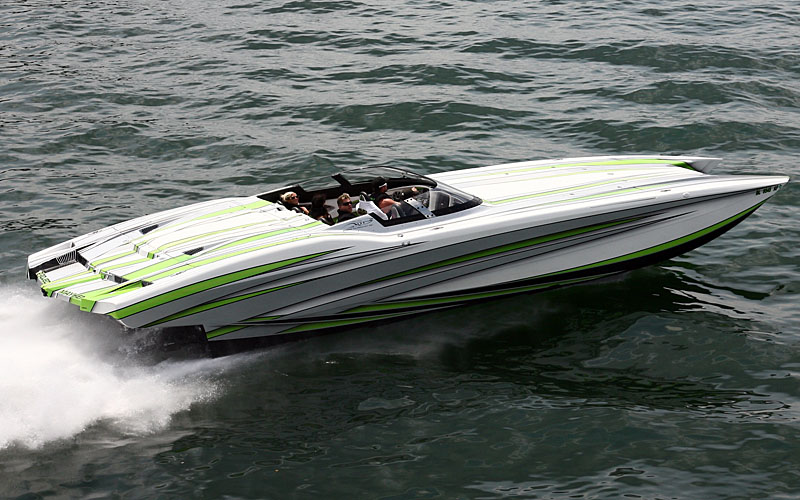 Mark Godsey traveled from Tennessee to do the poker run in his 40-foot MTI Project Mayhem.