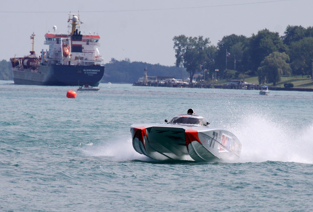 Surely Team AMSOIL's Bob Teague and Paul Whittier, who won the Super Cat class at the St. Clair River Classic in Michigan, will be featured in the first episode of the OPA AMSOIL Offshore Powerboat Series set to air on FSN on Oct. 17. Photo by Paul Kemiel/paulkemielphotographics.com