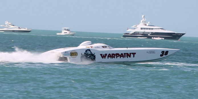 The new Team Warpaint MTI competed in SBI's new Superboat class with six other race teams. Photo by Jason Johnson