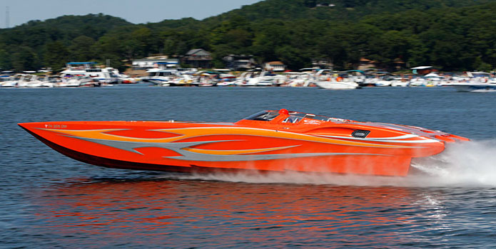 Now owned by Abraham, the 42 MTI ran 146 mph at the 2011 Lake of the Ozarks Shootout.