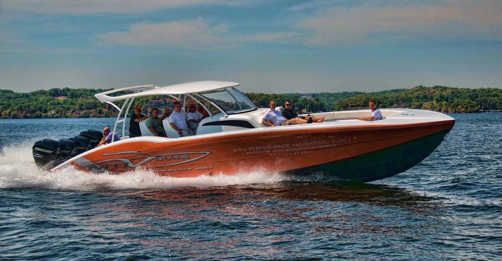 MTI will be running its SV42 Performance Validation model center console during the Key West Poker Run next week. Photo by Naples Image