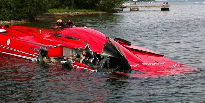 Bill Tomlinson, owner of the 50-foot catamaran My Way, was confirmed to be unharmed after an accident at the 1000 Islands Poker Run.