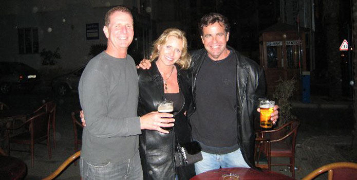 Tom Newby (far right) with former Powerboat magazine publisher Vicki Newton and Matt Trulio