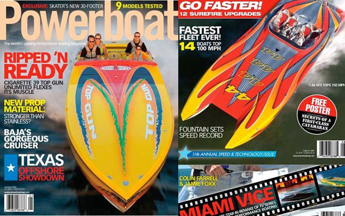 Newby's images graced Powerboat magazine covers for years.