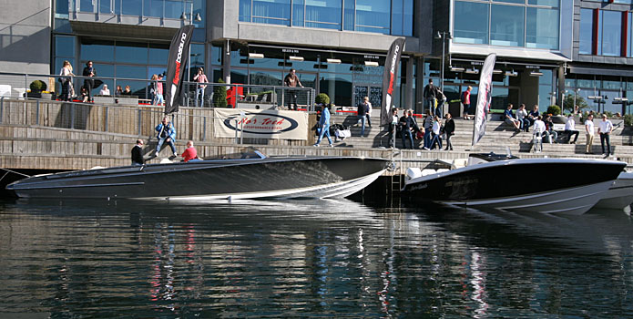 Speedboats.no, Nor-Tech's Norwegian dealer, displayed two new models—the 420 MC and the