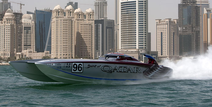 Sheikh Hassan bin Jabor Al-Thani and Steve Curtis will return to Key West in November to race Spirt of Qatar 96 in the world championships.