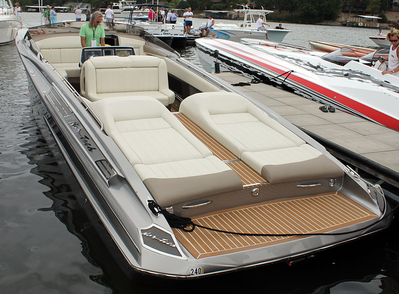 Nor-Tech Hi Performance Boats had one its luxurious 420s on display at the docks.