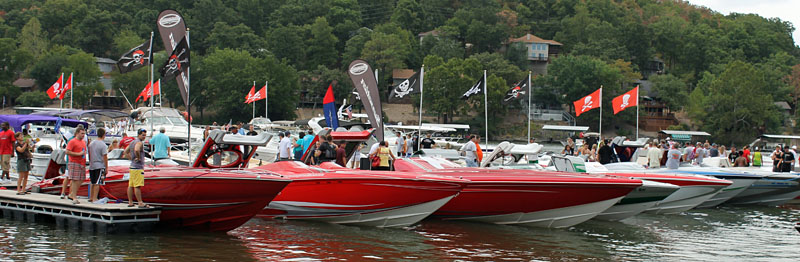 Sunsation Boats had a great turnout with at least eight of its customers bringing boats to the Shootout.