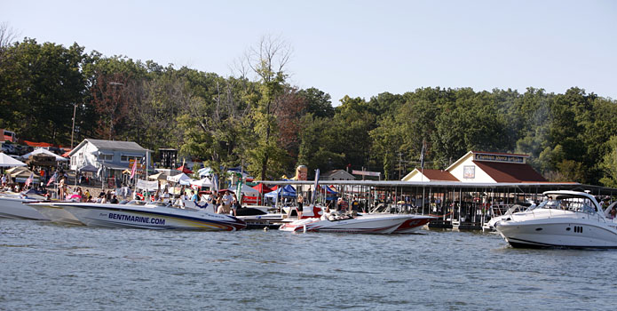 Once again, Captain Ron's will play host to the Lake of the Ozarks Shootout. Photo courtesy Robert Brown