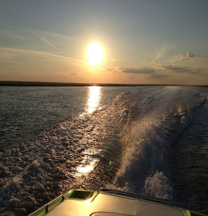 Heading home at sunset after another successful Atlantic City Poker run.